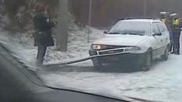 Fennakadások a hó miatt Kaposváron