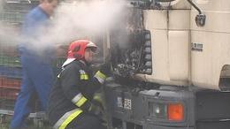 Kigyulladt egy teherautó Kaposváron