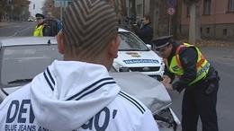 Egy nő sérült a kaposvári balesetben