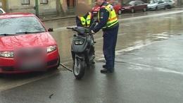 Motor és autó ütközött Kaposváron