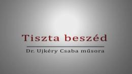 Tiszta beszéd dr. Seffer Istvánnal - 2013.10.03.