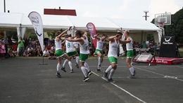 Kosárlabdás bemutató a jutai falunapon